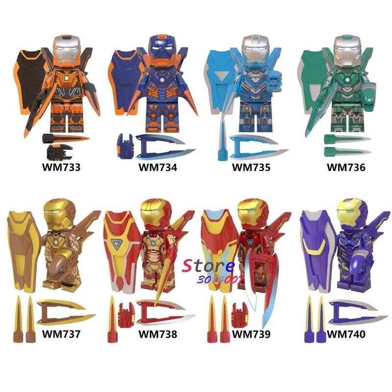 Single Avengers Endgame Iron Man Captain America IronMan Antman Black Panther Thor hawkeye Thanos MK85 building blocks Kid Toys