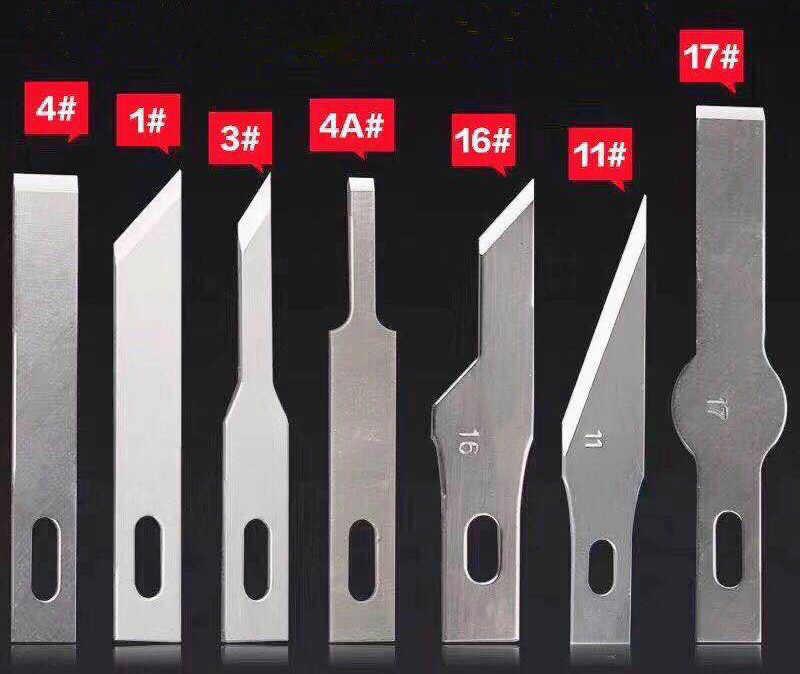 Non-Slip Metallo Bisturi Coltello Kit di Strumenti Cutter Incisione Mestiere Coltelli Mobile Del Telefono Pcb di Riparazione Fai da Te Utensili a Mano