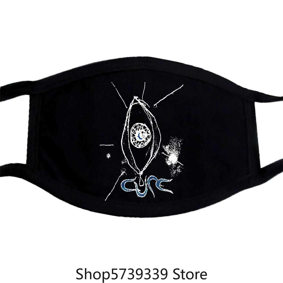 The Cure Band Punk Gothic New Black Short Long Sleeve Mask Washable Reusable Mask