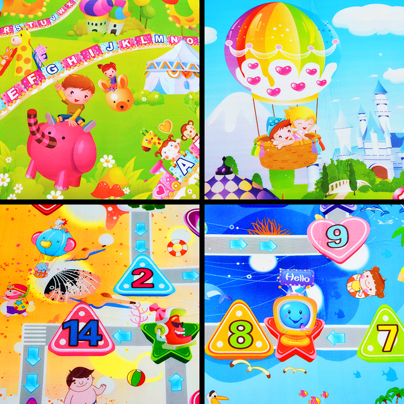 H2d68b7df09d34c218cbf413bd37414eb0 0.5cm Thickness Children's Rug Baby Playing Mats Soft EVA Foam Double Side Patterns Child Carpets For Kids Crawling Gym Mats