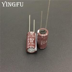 Image 2 - 100 Pcs 470 Uf 35V Nippon Ncc Ky Serie 10X20 Mm Lage Impedantie Lange Levensduur 35V470uF Aluminium elektrolytische Condensator