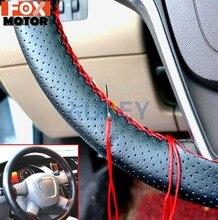 Bricolage PU cuir Auto voiture volant couverture couture à la main cousu à la main avec aiguille de fil 38cm respirant volant couvre