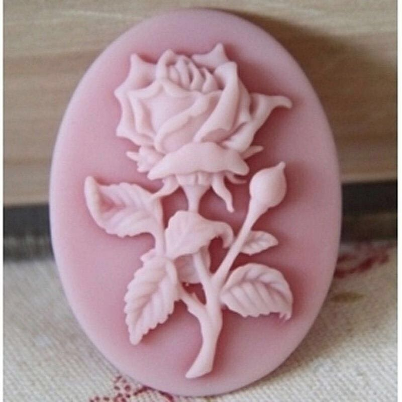 Cake Baking Mold 3D Mini Rose Flower Silicone Soap Mold DIY Aroma Candle Decorating Tools Sweet Candy Chocolate Mould