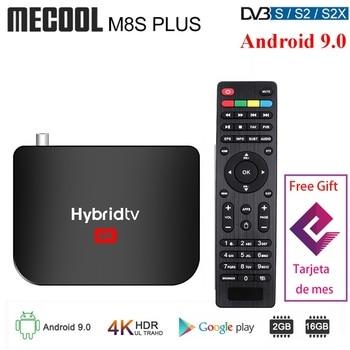 Mecool-TV Box M8S PLUS con Android 9,0, TV Box terrestre con DVB-T2, procesador Hybridtv, Amlogic S905X2, Quad Core, 2GB, 16GB, 4K, M8S PLUS