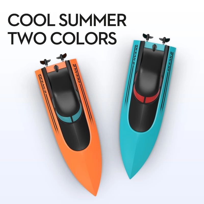 2.4G Remote Control Speed Boat New iOCEAN2 Rc Boat Rechargeable Waterproof Cover Design Anti collision Protection Design