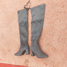 snow shoes bottes femme super platform Overknee Woman high Small Thin Knee Elastic Long boots