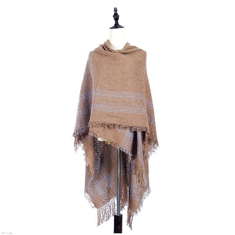 Boho Women Scarf Exotic Retro Wind Circle Shawl Unisex Tassels Wide Windproof Warm Scarf AC007