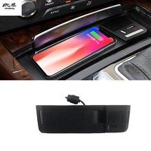 1 conjunto 15w carro rápido qi carregador sem fio de carregamento suporte do telefone para audi a4 b8 2008-2016 a5 s5/q5 8r 2010-2017/a4 allroad