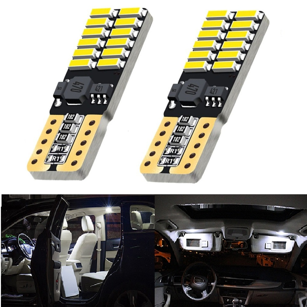 <font><b>T10</b></font> 4014 <font><b>SMD</b></font> <font><b>24</b></font> LED W5W Parking Lamp Clearance Light For Nissan Qashqai Juke Almera X-trail Tiida Note Primera Pathfinder Sentra image