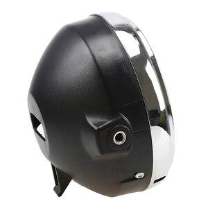 Image 5 - 12vオートバイクロームハロゲンフロントヘッドライトランプホンダCB400/CB500/CB1300 250ホーネット600ラウンドライト電球モト