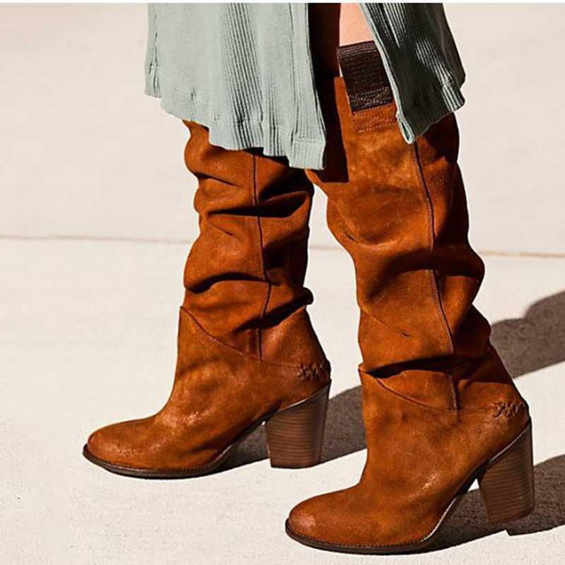 Adisputent moda damska buty na platformie buty ze skórki cielęcej Slip On sznurowane solidne płaskie obcasy damskie na co dzień ciepłe buty na zimę