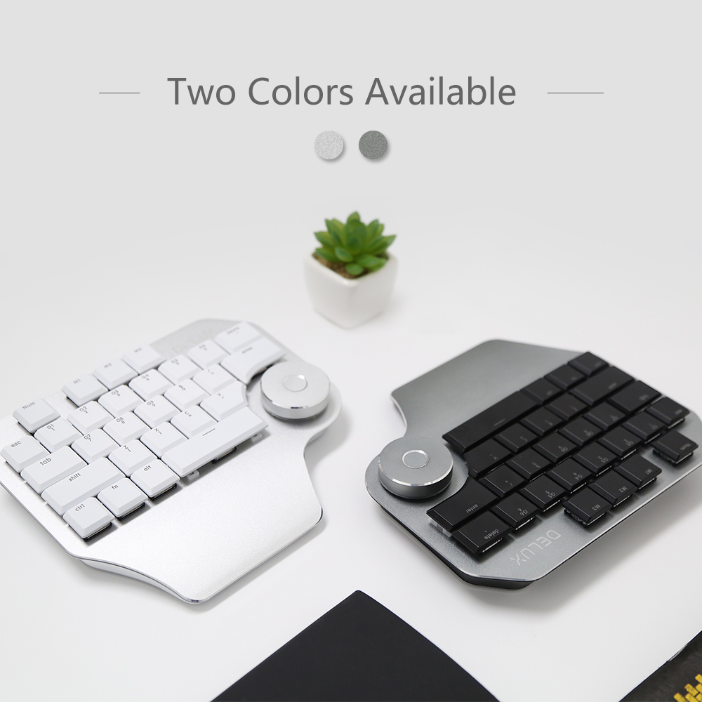 Image 2 - Delux T11 Designer Keyboard with Smart Dial 3 Group Customizable Keys Keypad Compatibility for Wacom Windows Mac Design Softwar-in Keyboards from Computer & Office