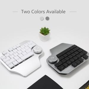 Image 2 - Delux T11 Designer Keyboard with Smart Dial 3 Group Customizable Keys Keypad Compatibility for Wacom Windows Mac Design Softwar