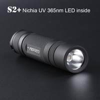 UV Led flashlight Convoy S2+ with Nichia UV 365nm LED inside Fluorescent Agent Detection Ultraviolet Ultra Violet Light Lanterna