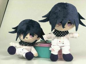 Image 2 - Anime Plush Doll Keyring Danganronpa V3 Dangan Ronpa Oma Kokichi Komaeda Nagito Cosplay DIY Handmade Material Plush Keychain Toy