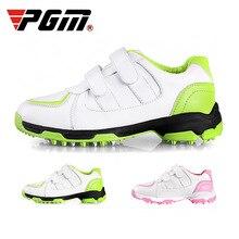 Pgm/детская обувь для гольфа; удобная дышащая Спортивная обувь для мальчиков и девочек; нескользящая обувь для бега; Размеры 30-37