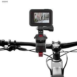 Image 2 - אופני אופניים קליפ אוניברסלי כידון מהדק סוגר חצובה הר לgopro 8 7 6 DJI אוסמו כיס אוסמו פעולה מצלמה