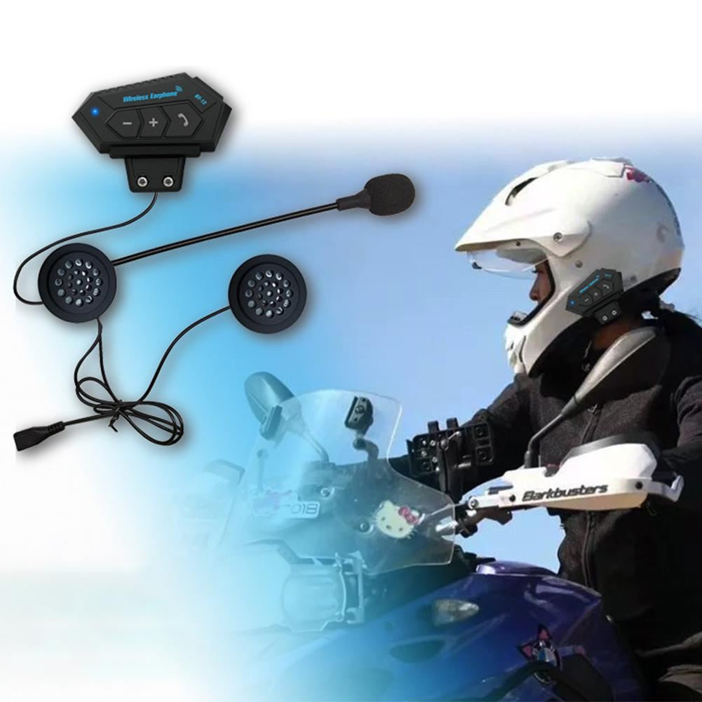 BT12 Motorcycle Helmet BT Headset Headphone Speakers Support Hands-free Calling For Answering Rejecting Hanging