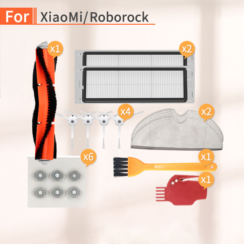 Robot Vacuum Cleaner Accessories Side Brush Filter HEPA Accessories For Xiaomi 1S 2S Roborock S50 S55 S6 Parts Replacement