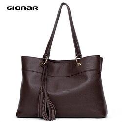 GIONAR Сумки из натуральной кожи женские сумки из натуральной коровьей кожи с верхним слоем кожаная сумка-тоут дизайнерская сумка на плечо с в...