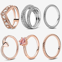 2020 New 925 Sterling Silver Ring Pave Snake Chain Pattern Ring Crown Rings Women Engagement Anniversary Jewelry