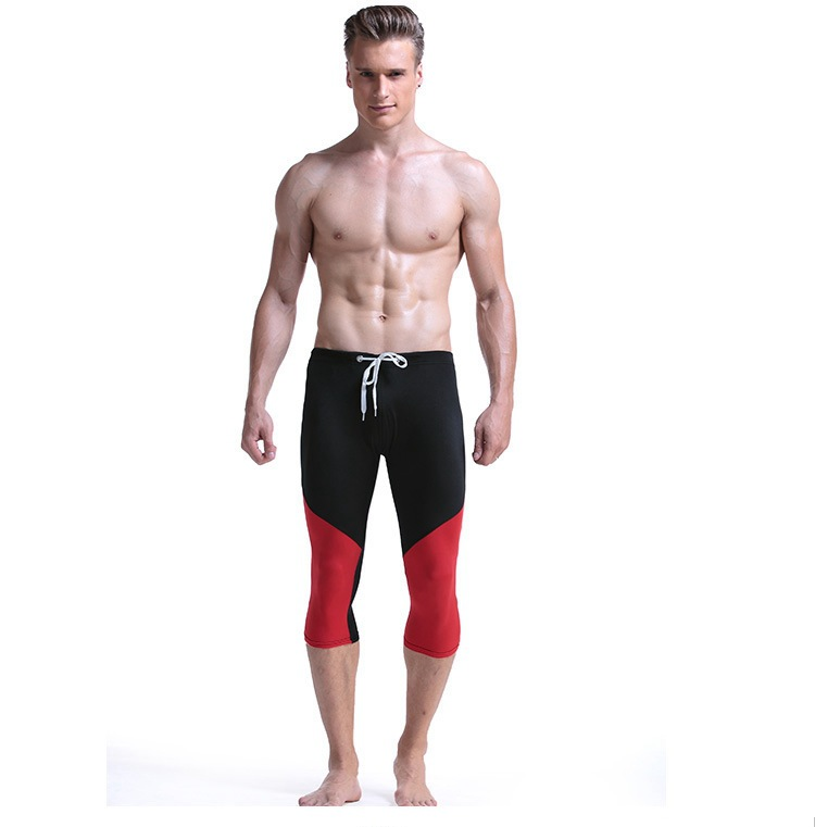 Cross Border Supply Of Goods Men Fitness Pants Swimming Trunks Beach Shorts Quick-Dry Seaside Fitness Capri Pants A Generation O