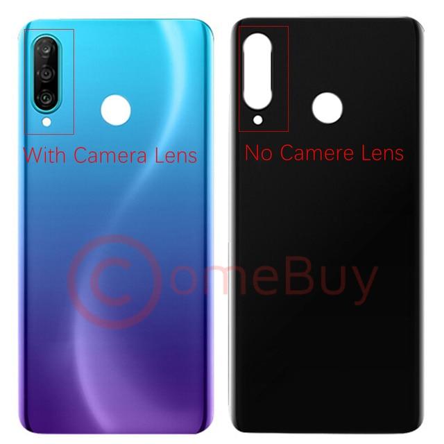For Huawei P30 Lite Back Battery Cover Nova 4e Rear Glass Door Panel Case For Huawei P30 Lite Battery Cover+Camera Lens Replace 2