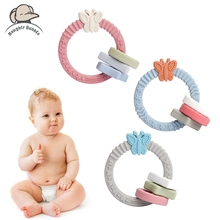 1pc Silicone Baby Teether Bracelet Butterfly Shaped Molar Toy Baby Teeth Chewable Silicone Beads Nursing Products Baby Jewelry