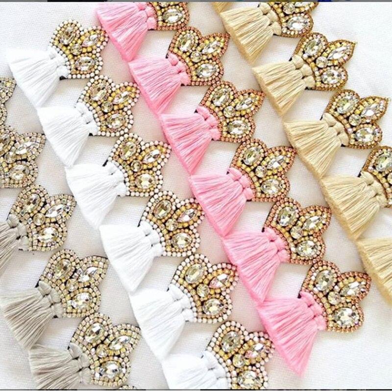2020 Earrings Tassel Drop Earring Jewelry Earrings For Women Crystal Earrings Crown Dangle Earrings Long Earrings Boho Earings