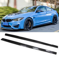MTC Style Real Carbon Fiber Auto Racing Car Styling Bodykit Extension Lips Side Skirts for BMW F80 M3 F82 F83 M4 2012 2017