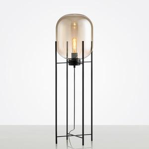 Image 5 - Luz de chão retrô nórdica, iluminação para sala de estar, luminárias para decoração da casa, iluminação de vidro de ferro, lâmpadas para o quarto