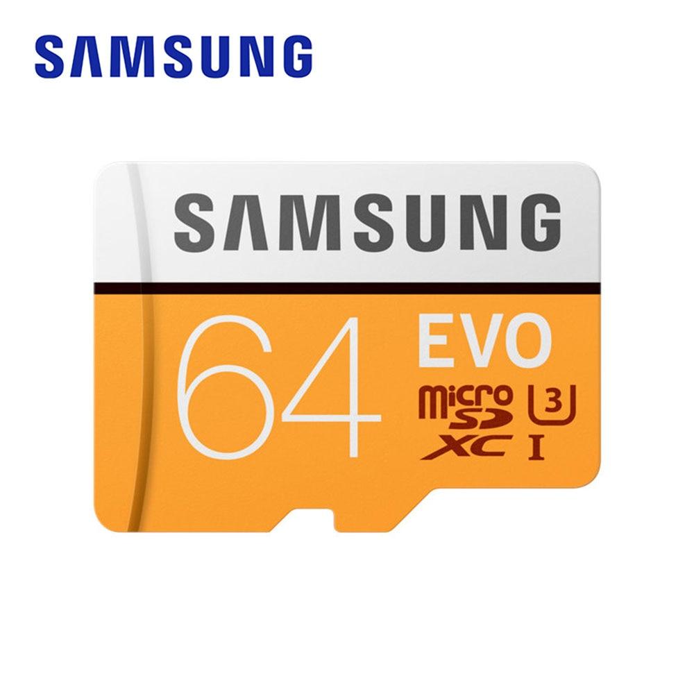 Seguro para Smartphone Leitor de Memória o Original Samsung Sdhc Mini Cartão Sdxc Memórias C10 u3 Carte sd Flash 64 gb Evo