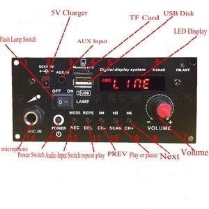 Image 5 - DIY רמקול 3.7V ליתיום סוללה דיגיטלי Bluetooth מונו מגבר לוח מיקרופון קריוקי מגברי AUX TF USB FM הקלטה