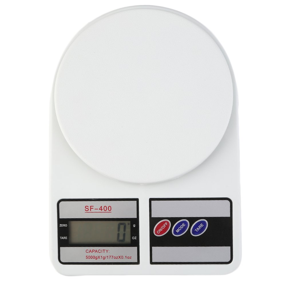 Digital Kitchen Scale Electronic Balance Weight LCD Display Tare Function For Postal Parcel Food Weight Diet Battery Operated