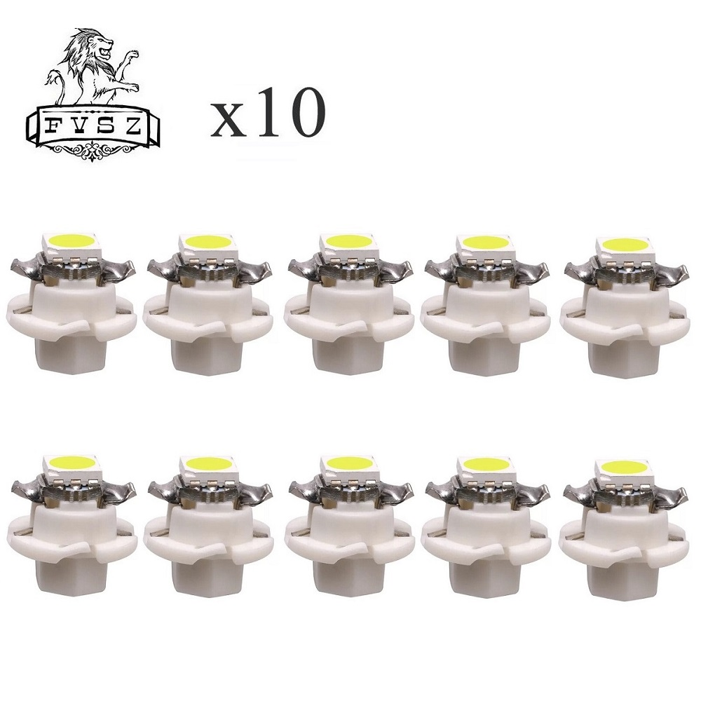10Pcs T5 B8.4 LED 1SMD 5050 auto instrument light indicator control desk lamp display white 12v