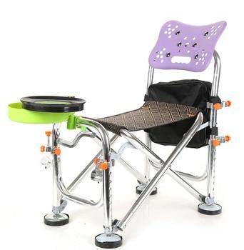 Бесплатная доставка Multi Outdoor Foldable Fishing Chair All Terrain Fishing Seat Camping Hiking Chair with Umbrella Hook