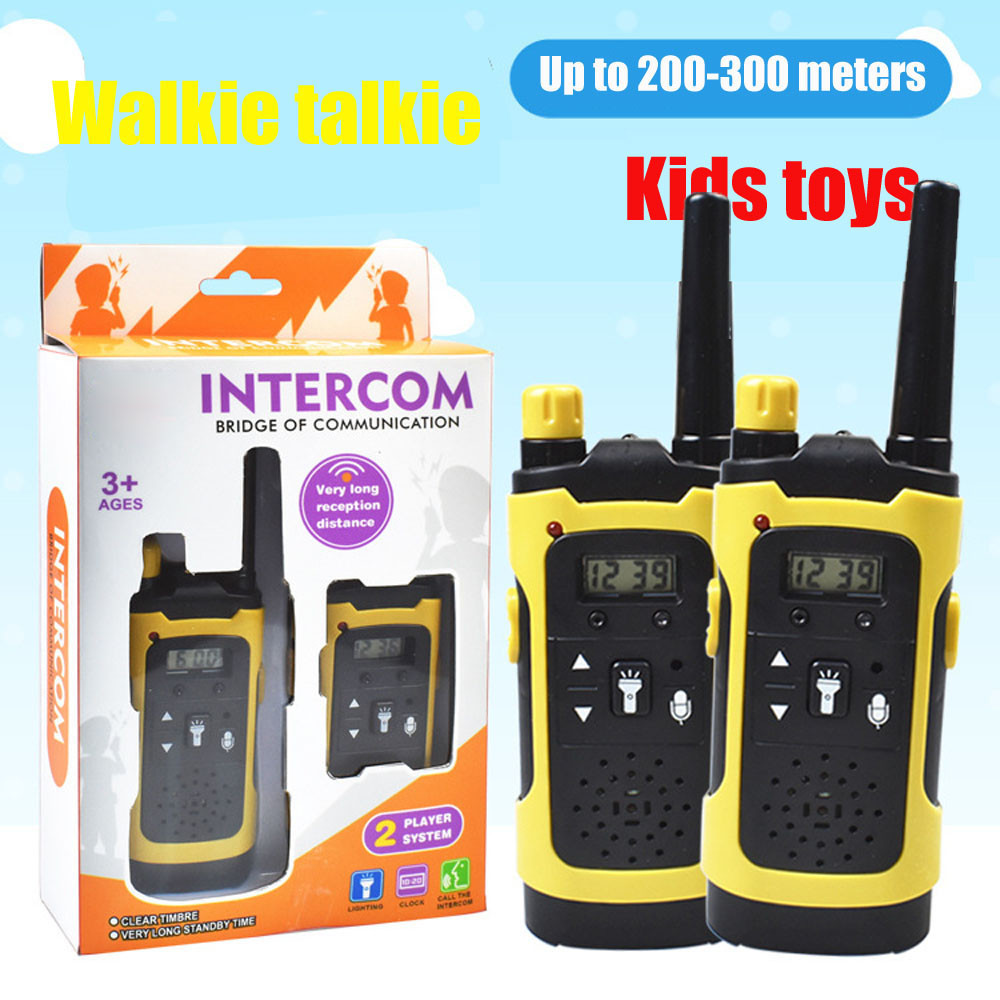 MUQGEW 2pcs Wireless Walkie Talkie Toys For Children Electronic Toys Portable Long Reception Distance Christmas Gift Wy6