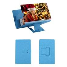 Nuevo 8 pulgadas 3D teléfono pantalla lupa estereoscópica amplificación de escritorio soporte de cuero soporte de móvil