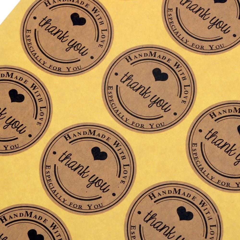 5Sheets/60PCS Thank You Label Sealing Adhesive Sticker Craft Wrapping Gift Handmade DIY