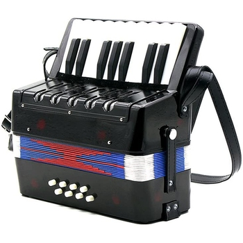 17 Keys Mini Accordion Bass Educational Musical Instrument Rhythm Toy Cadence Band for Kids Children Adults Gift