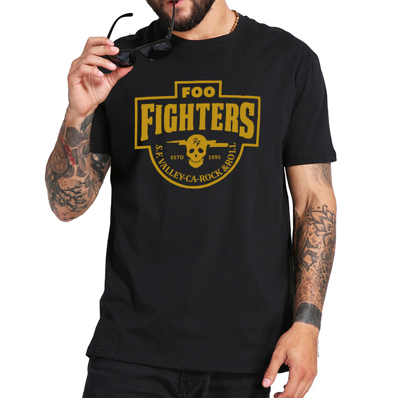 Foo Fighters T Shirt S.F. Valley Rock Band Tshirt Fashion Casual Breathable Fitness Crew Neck EU Size 100% Cotton Tops