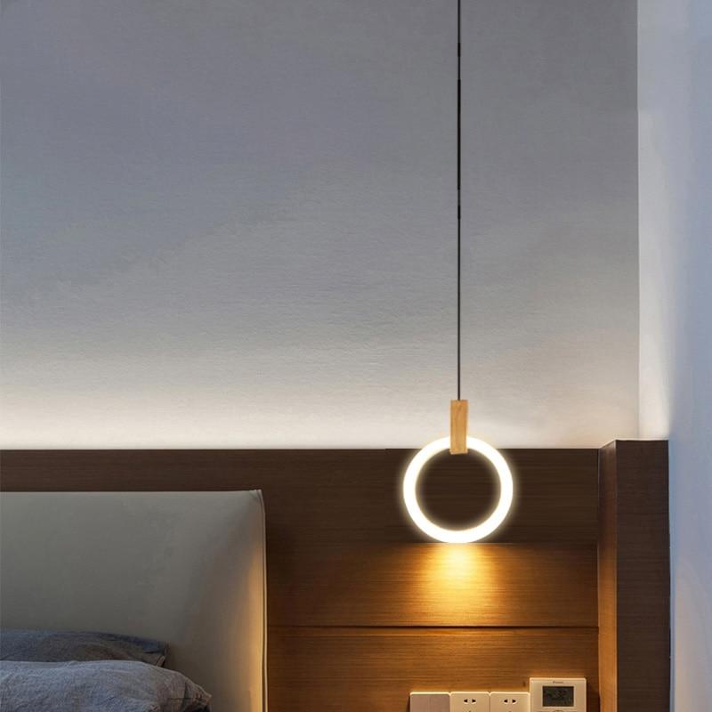 Прикроватная люстра, Японский современный светодиодный, деревянный, скандинавский стиль, для гостиной, люстра для спальни, освещение