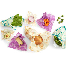 Assorted 3 Pack Eco Friendly Reusable Food Wraps Sustainable Plastic Free Storage Zero waste beeswax food wrap