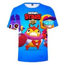 2021 lato nowa strzelanka 3d drukowanie gwiazda T-shirt moda codzienna ubrania dla dzieci śmieszne kreskówki chłopiec/dziewczyna rękaw T-shirt
