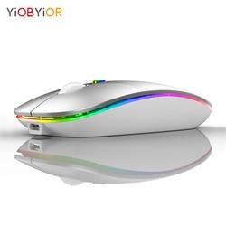 Wirless Ricaricabile Bluetooth5.1 Mouse per Mac Del Computer Portatile Mouse Senza Fili Bluetooth per MacBook Pro Air Finestre Notebook Android