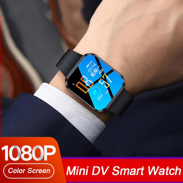 جديد فاخر فيديو صوت مسجل الصوت ساعة HD 1080P كاميرا DV DVR الذكية الفرقة سوار مع بلوتوث و لوحة معدنية رقيقة ضئيلة