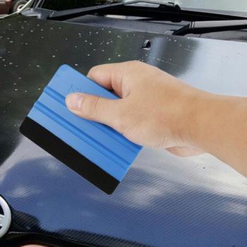 Auto Styling Vinyl Carbon fibre Window Ice Remover czyszczenie myjnia skrobaczka samochodowa z gumowa ściągaczka narzędzie akcesoria do owijania folii tanie i dobre opinie CN (pochodzenie) Z tworzywa sztucznego squeegee