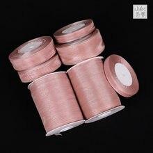 12mm-50mm coral rosa organza fita festa de casamento casa decoração presente embrulho natal aniversário material diy suprimentos