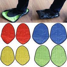 1 пара новых детских носков шаг в носке многоразовые бахилы один шаг ручной носок с надписью «Free» Чехлы для обуви прочные Портативный автоматический бахилы