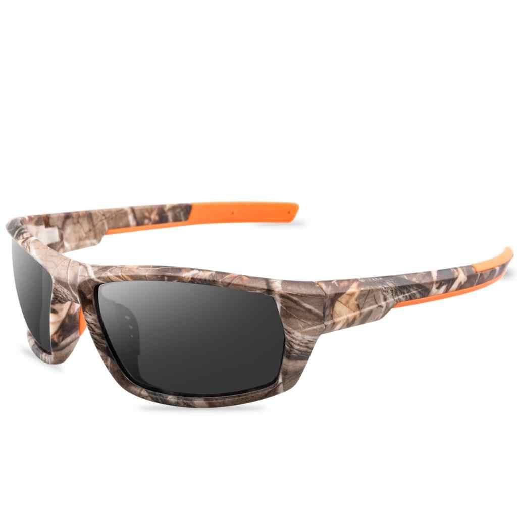 2020 משקפי שמש גברים הסוואה ספורט מקוטב גברים כיכר עבה מסגרת חיצוני משקפיים שמש יוקרתית לגברים